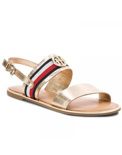 Tommy Hilfiger Corporate Ribbon Flat Sandal Met FW0FW02837
