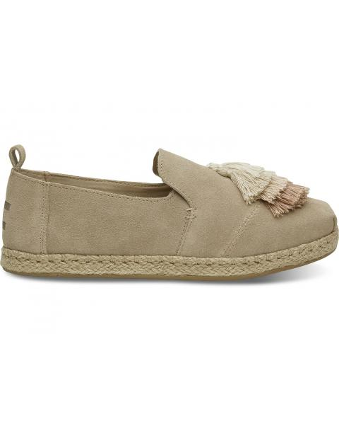 Toms Deconstructed Alpargata Rope Oxford Tan Suede / Tassel