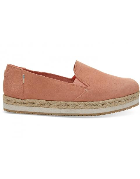 Coral Pink Suede Women's Palma Espadrilles 10013375